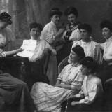 Civica scuola di lavori femminili, 1908, coll. Grapulin